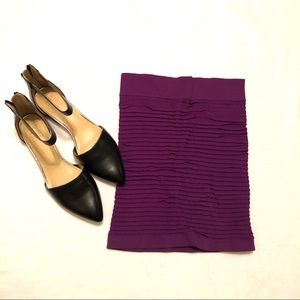 BCBG Purple mini skirt